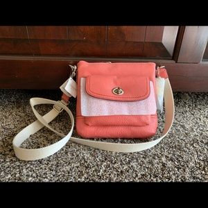 BRAND NEW peach orange coach purse